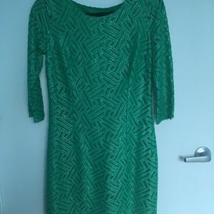 Lilly Pulitzer Green Metallic Holiday Party Dress